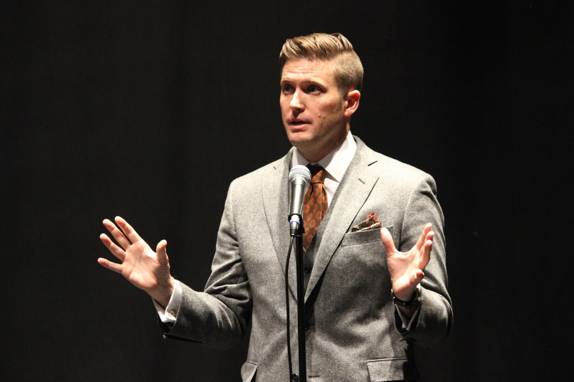 Richard Spencer at the University of Florida